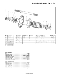 exploded view and parts list bontrager 231793 user manual page