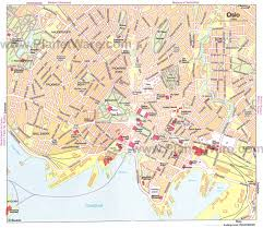touristic map of oslo map detailed city and metro maps of oslo for