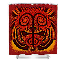 sophisticated red and gold shower curtain photos best