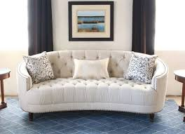 sf164 curved back button tufted sofa with nailhead trim 2