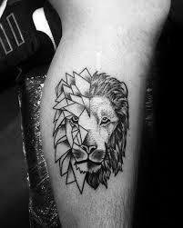 stunning geometric lion tattoo golfian com