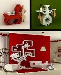 ravishing unique wall shelves shaped design ideas with artwork