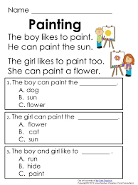 reading comprehension worksheets grade 1 free worksheets library