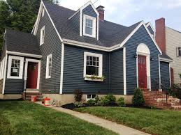 Ben Moore benjamin moore hale navy exterior paint rockin the red white and