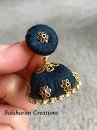 how to make jhumka earrings 108 best silk thread jhumkas images on thread