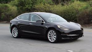 Tesla Model 3 Caught Completely Undisguised Showing Interior