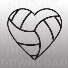 volleyball heart clipart clipartxtras