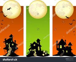 halloween haunted house set stock vector 347943647 shutterstock