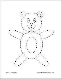 trace color teddy bear abcteach