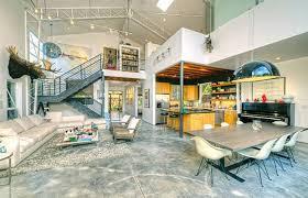 open floor plans with loft barn in venice angeleno living