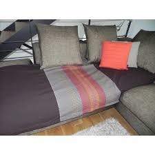 jetee canape jetée de canapé coton aztèque chocolat coloré 200x240cm pier import