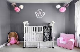 Pink And Grey Nursery Decor Baby Nursery Decor Wall Grey And Pink Baby Nursery Sle Hanging