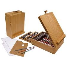 professional drawing set kit art sketch paint craft artist easel