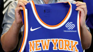 knicks announce squarespace as jersey sponsor with