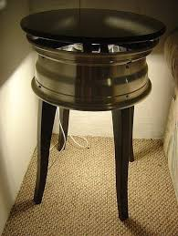 How To Build A Wood End Table by How To Make An End Table With A Car Wheel Hunker