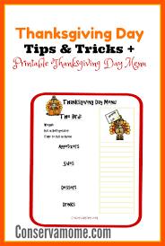 thanksgiving day menus thanksgiving day tips tricks printable thanksgiving day menu