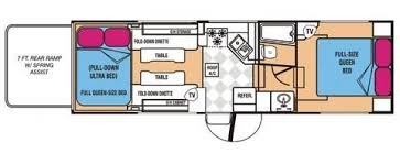 Toy Hauler Floor Plans State Of The Art Toy Haulers Gear U0026 Recreational Vehicles