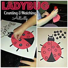 diy ladybug number counting and matching activity craft for kids