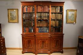 Break Front Bookcase A Superb Quality Mahogany Inlaid Edwardian Period Breakfront