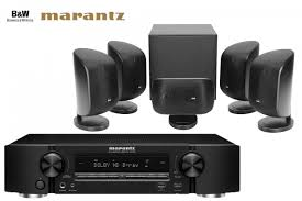 home theater system receiver bowers u0026 wilkins mt 50 mini speakers and marantz nr1606 receiver