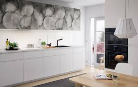 kitchens kitchen ideas inspiration ikea a medium size kitchen with doors in grey abstract patterns combined with white doors and drawers