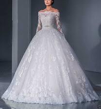 unbranded satin long sleeve choker neck wedding dresses ebay