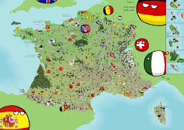 A Map Of France by Polandball Map Of France 2015 Polandball