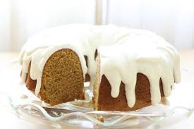 pumpkin bundt cake with vanilla bean icing traditional and gluten
