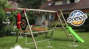 Aire De Jeux Wickey by Avec Couleur Garden Trouvez Le Portique Avec Toboggan Qu U0027il Vous