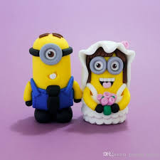 minions cake toppers dispicable me minions wedding cake topper mrs mrs wedding topper