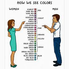 Men And Women Memes - differences between men women how we see colors lol