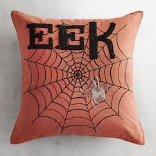 vintage halloween throw pillow 100pct polyester material graphic
