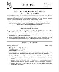 Entertainment Resume Template Animation Director Page1 Entertainment Resumes Pinterest