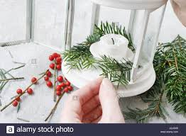 how to make christmas decorations with fir red berries and simple