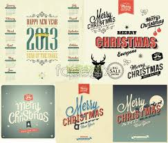 retro christmas theme vector element calendar free download