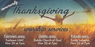 community thanksgiving services northstar church pulaski