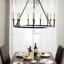 Candle Lit Chandelier Cavalier 9 Light Black Chandelier Free Shipping Today