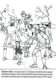 colonial boy coloring page coloring pages for kids cars colonial man revere ride free fuhrer