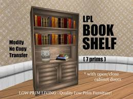 Book Cabinet With Doors by Second Life Marketplace Bookshelf W Open Close Cabinet Doors