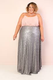 maxi skirt plus size sequin maxi skirt silver society plus