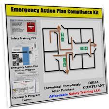 emergency action plan safety training compliance kit u2013 xo safety