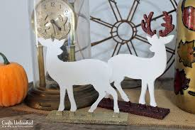 deer decor glitter dipped figurine tutorial