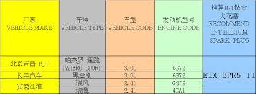 iridium auto spark plug eix bpr5 11 manufacturers in china