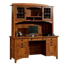 mission craftsman style computer desk w hutch view images