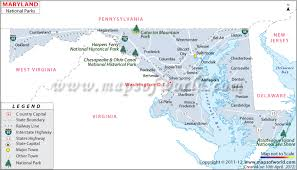 Maryland national parks map