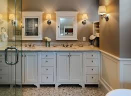 interior design medicine cabinet in cozy beach style bathroom