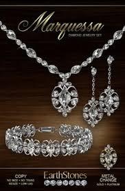 set diamond second marketplace earthstones marquessa jewelry set diamond
