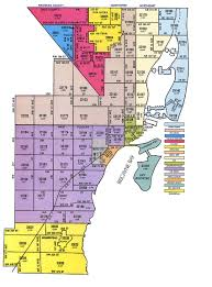 Map Florida Counties by Miami Dade Zip Code Map