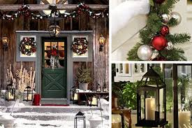 outside rustic decorations happy holidays classic