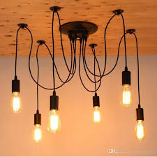 Retro Pendant Lights Discount Vintage Indoor Spider Pendant Lights 6 8 10 Heads